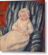 Child On A Sofa Metal Print by Mary Cassatt