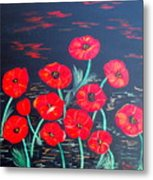 Childlike Poppies Metal Print by Alanna Hug-McAnnally