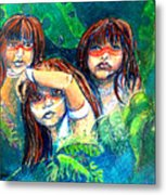 Children Of The Jungle Metal Print