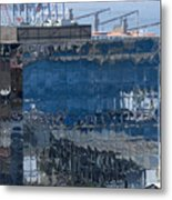 Chile Harbor Reflections Metal Print