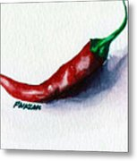 Chili Pepper Red 001 - Mini Study Metal Print