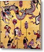China: New Year Card Metal Print