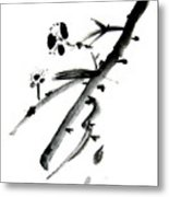 Chinese Brush L Metal Print