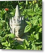 Chinese Garden Gnome Metal Print