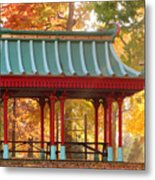 Chinese Pavillion In Tower Grove Park Metal Print