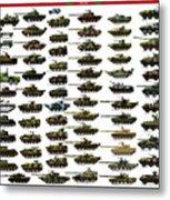 Chinese Pla Tanks Metal Print