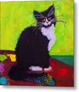 Ching - The Studio Cat Metal Print
