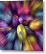 Chocolate Easter Eggs With Zoom Effect Metal Print