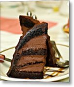 Chocolate Mousse Cake Metal Print