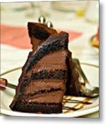 Chocolate Mousse Cake Metal Print