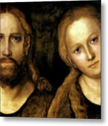 Christ And Mary Metal Print