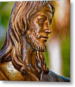 Christ In Bronze Metal Print by Christopher Holmes