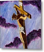 Christ On The Cross Metal Print by Michael Vigliotti