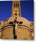 Christ On The Cross Outside The Nortre Dame De La Garde Metal Print