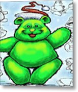 Christmas Bear Metal Print