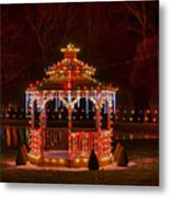 Christmas Gazebo Metal Print
