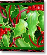 Christmas Holly And Berries Metal Print