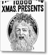 Christmas Present Ad, 1890 Metal Print