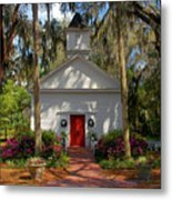 Church In Spring Metal Print