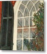Church Window Metal Print