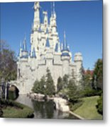 Cinderella Castle Reflections Metal Print