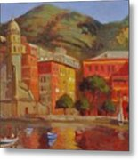 Cinqua Terra Italian Fishing Village Metal Print