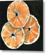 Circle Of Orange Metal Print by Penny Everhart