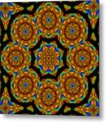 Circled Floral Mandala Metal Print