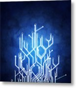 Circuit Board Technology Metal Print
