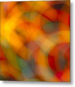 Circular Flow Christmas Abstract Metal Print