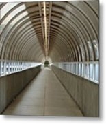 Circular Tunnel Metal Print