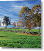 Cirrus Clouds Over Farm Fields Metal Print