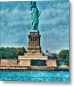 City - Ny - The Statue Of Liberty Metal Print