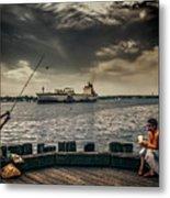 City Fishing Metal Print