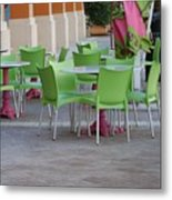 City Place Seats Metal Print