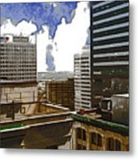 City Skies Metal Print