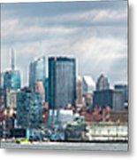 City - Skyline - Hoboken Nj - The Ever Changing Skyline Metal Print