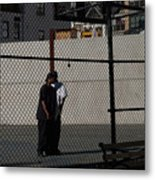 Cityscape With Fences Metal Print
