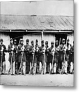 Civil War: Black Troops Metal Print