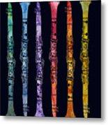 Clarinet Rainbow Metal Print by Jenny Armitage