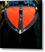 Classic Wooden Boat Metal Print by Perry Webster