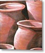 Clay Pots Metal Print