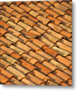 Clay Roof Tiles Metal Print by David Buffington