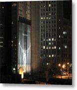 Cleveland At Night 03 - Lebron James Light Display Metal Print by Neil Doren