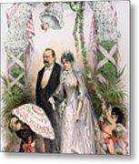 Clevelands Wedding, 1886 Metal Print