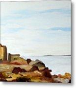 Cliffs By The Seaside Metal Print by Carola Ann-Margret Forsberg
