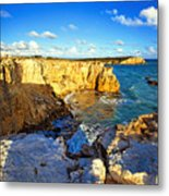 Cliffs Of Cabo Rojo At Sunset Metal Print