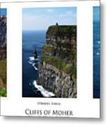 Cliffs Of Moher Ireland Triptych Metal Print