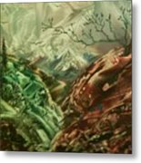 Cloud Mountain Metal Print