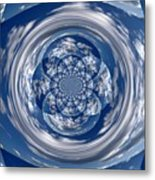 Cloud Spiral Metal Print